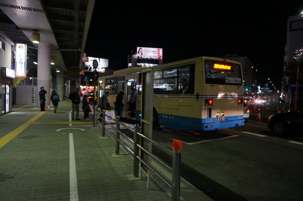 JR茨木西側バス乗り場の様子