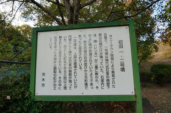 初田一・二号古墳の説明