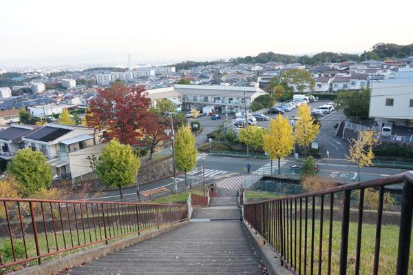 山手台公園から階段下
