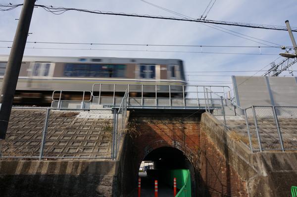 JR総持寺工事三島中そばトンネル南側