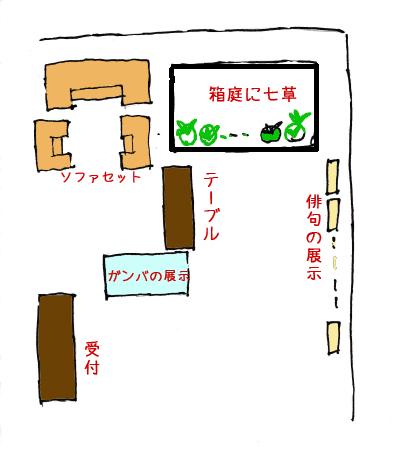茨木市役所の七草イベント展示の様子
