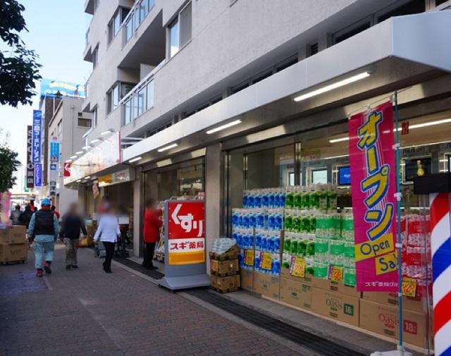 2016年2月スギ薬局JR茨木前道路の様子