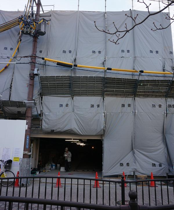 0218阪急別院駐輪場工事縦写真