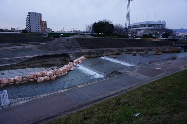 0222安威川護床工事の川の様子