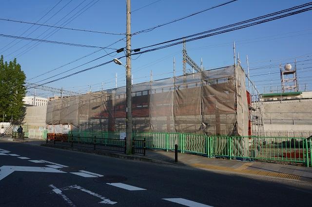 西河原新橋・三島中そばでファミリーマート工事