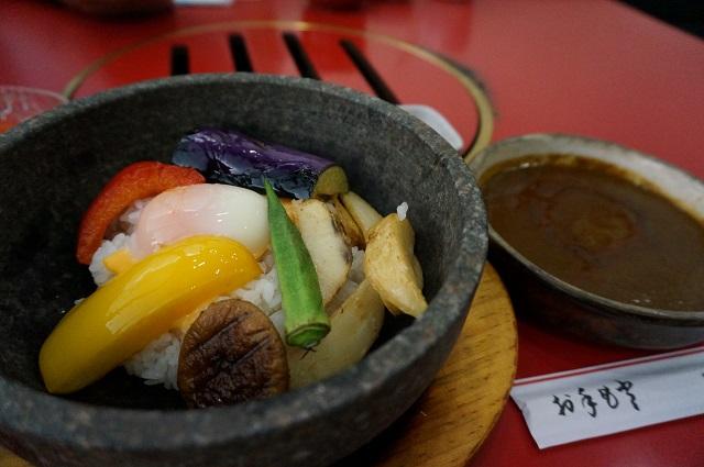 片桐石焼カレー定食
