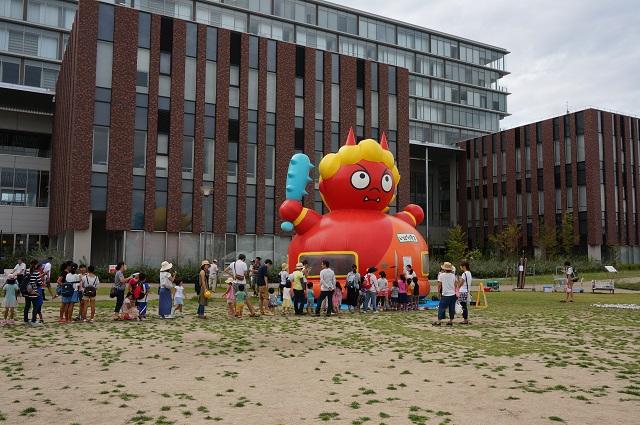 立命館大いばらきキャンパス防災イベントで茨木童子
