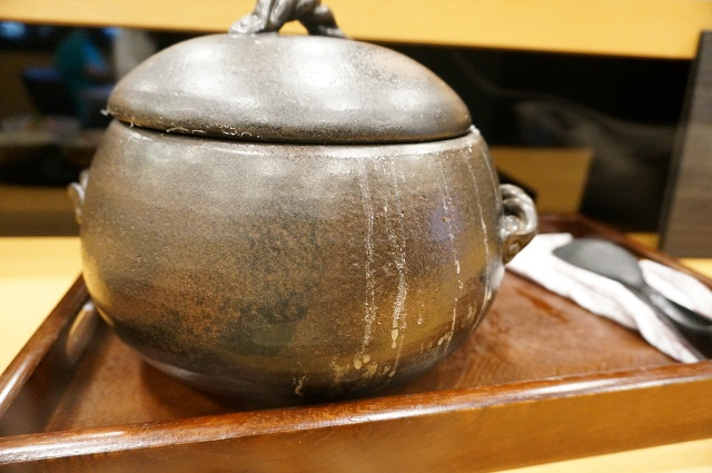 池輝ランチのごはんの土鍋