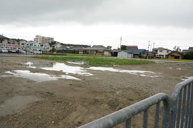春日小そば産業道路沿いの工事2