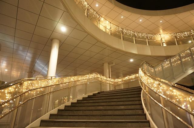 1126光の回廊階段を下から