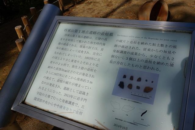 将軍山第1地点遺跡の壺棺墓案内板