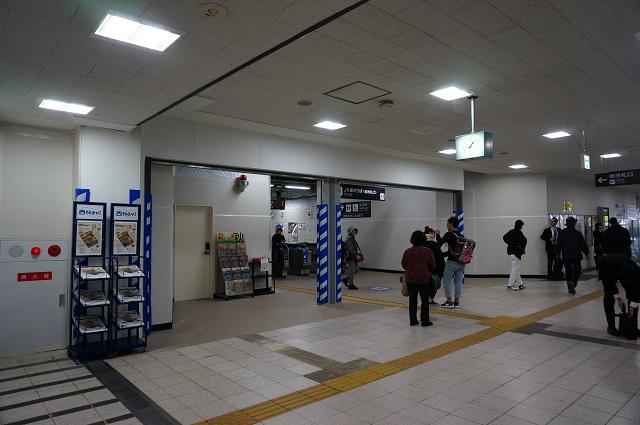 JR茨木京都側改札DSC0187511月11日