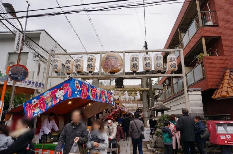 2017十日戎茨木神社の搦手門側DSC03145IMG_5163
