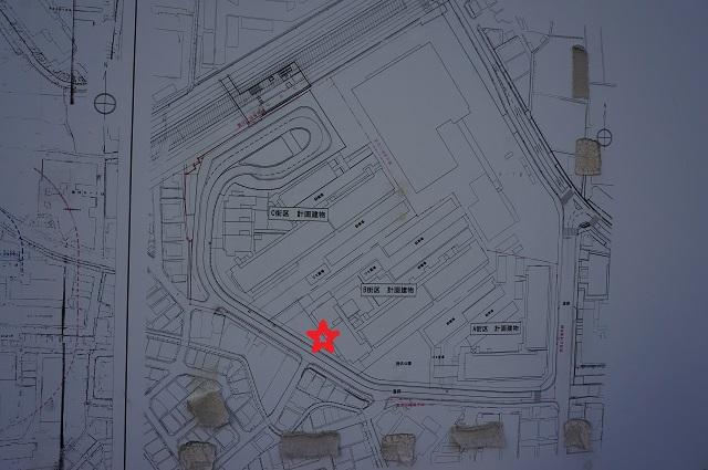 ライオンズマンションからJR線路を見た場所DSC03490