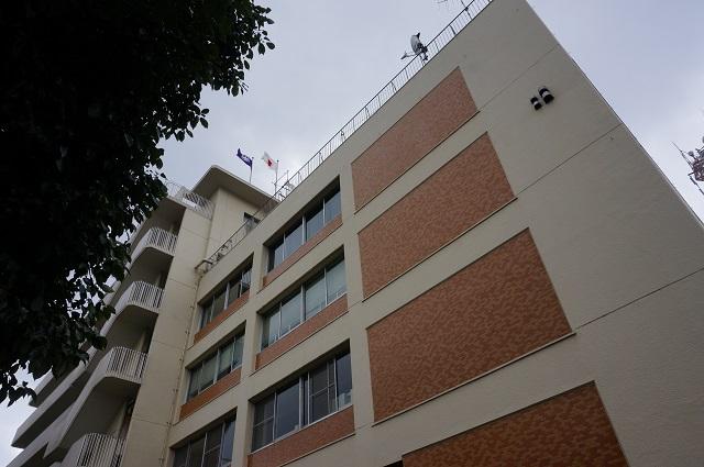 イバラキ消防署の東側壁面DSC04845