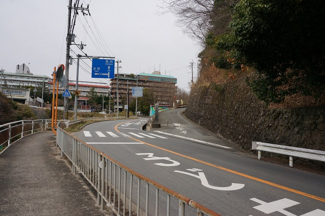 茨木千堤寺口バス停から少し先の分かれ道DSC05125
