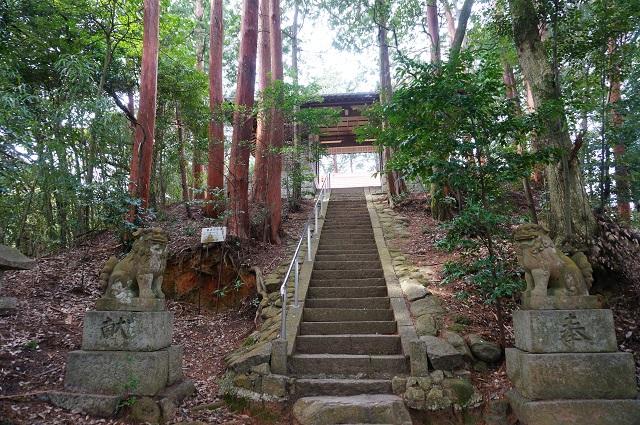 7見山の郷神社一番上の階段DSC05174