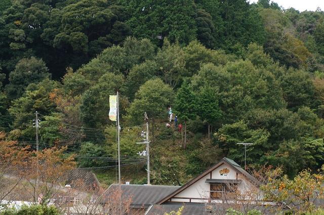 見山の郷の山に人がいる2DSC01424