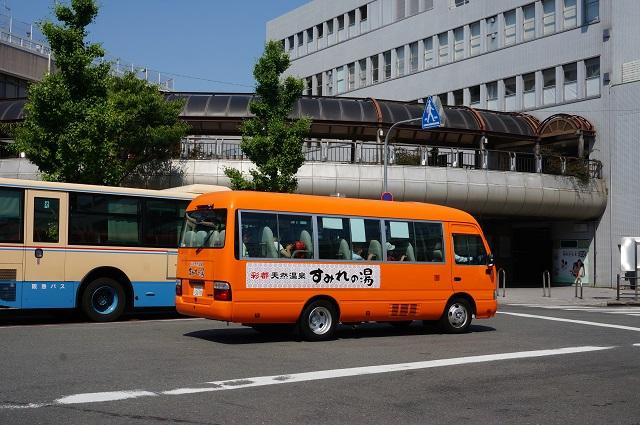 阪急駅前にすみれの湯行きバスDSC06288