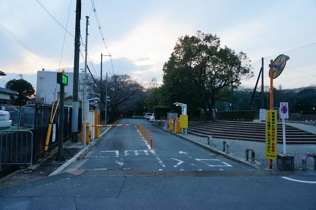 2017-1月西河原公園駐車場入口DSC03918