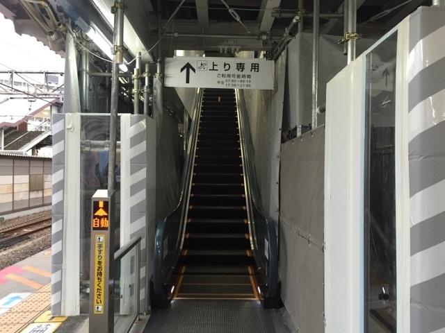 JR茨木駅エスカレーター試運転中IMG_8703