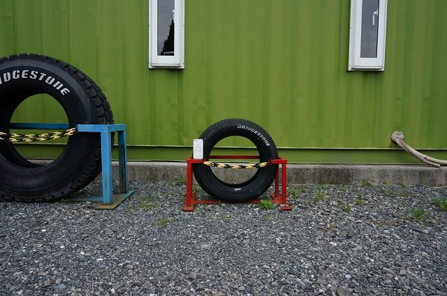 0717安威川ダム事務所前タイヤ一番小さいものDSC07838