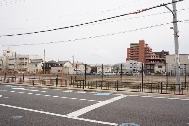 JR西日本社員寮跡が更地にDSC05323