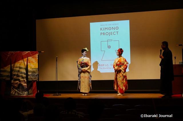 着物プロジェクト講演会ステージで1
