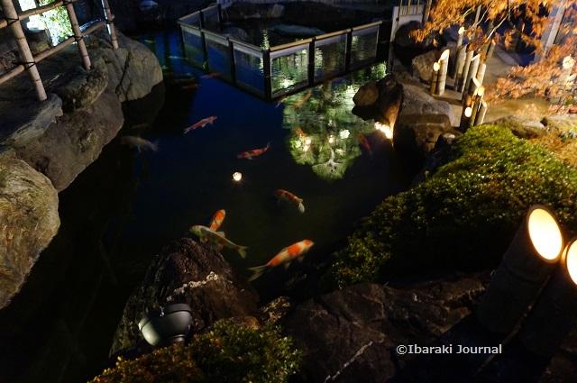 総持寺竹灯籠の池