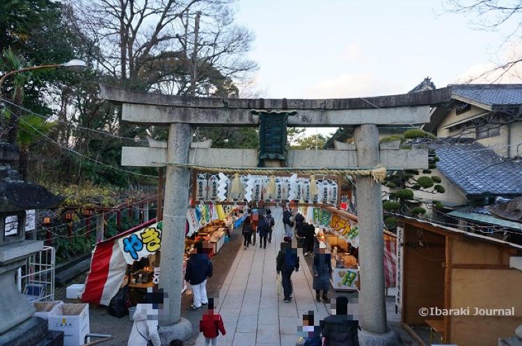 2018年1月茨木神社十日戎の大鳥居