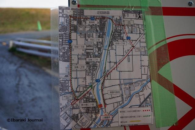 新橋のところの通行案内DSC01394