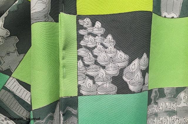 KIMONOプロジェクト着物の市松模様のところIMG_2531