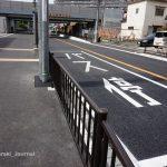JR総持寺そばバス停の電柱移動DSC03867