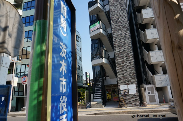 茨木市役所前新しいバス停DSC05641