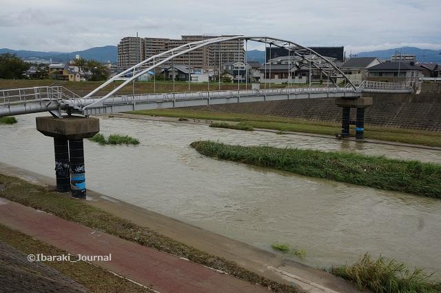 千歳橋から安威川を北へ1DSC06095