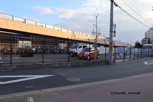 JR茨木線路沿い駐車場工事IMG_7102