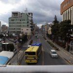 茨木市役所前歩道橋から西2月8日IMG_8513
