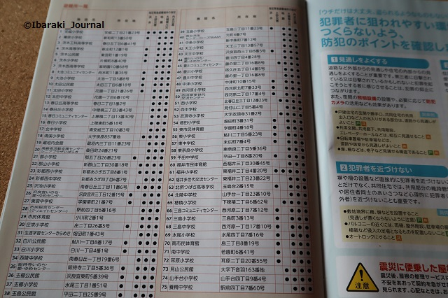 2019年3月防災防犯ハンドブック避難場所IMG_9013
