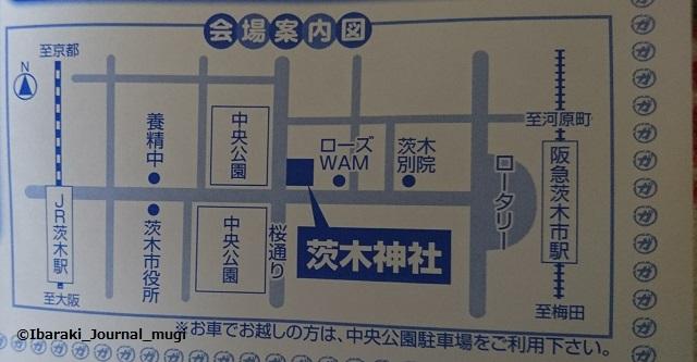 ガンバる市会場茨木神社マップ
