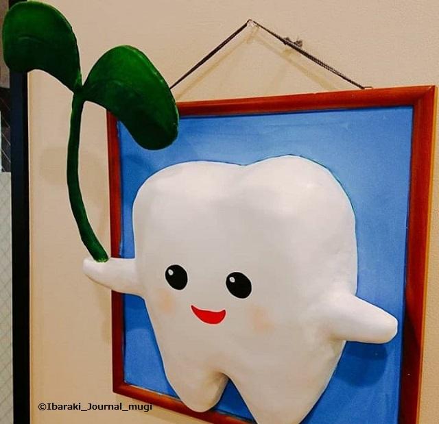 うえやま歯科院内の手作り作品