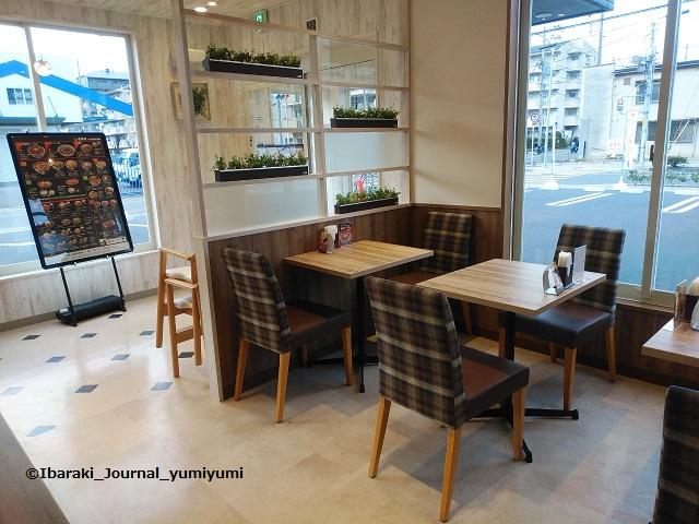 202001吉野家のカフェ風テーブル席