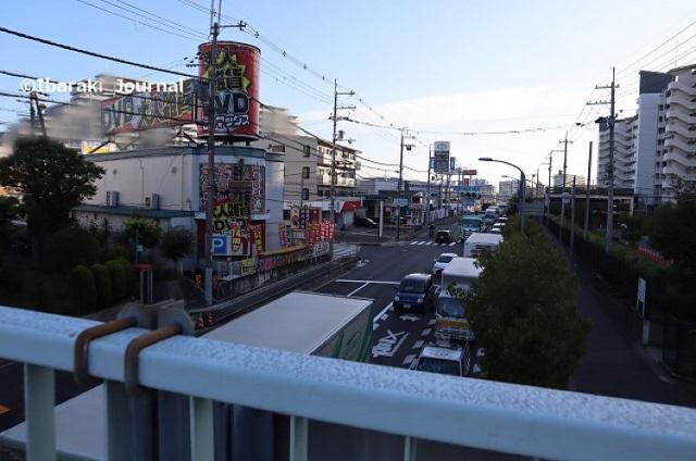 1002歩道橋から京都方面1