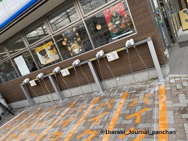 総持寺ファミマ202011-1バイク置場