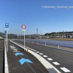 茨木亀岡線からの道3自転車専用地面の表示