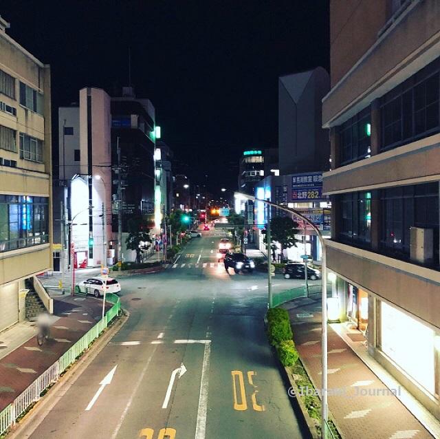 20210517阪急ソシオの歩道橋から北
