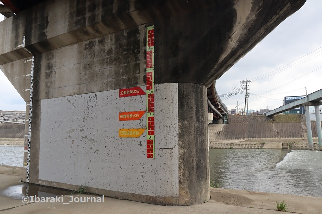 千歳橋そばの水位計IMG_0755