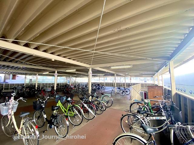 茨木市駅東口駐輪場の様子IMG_3274