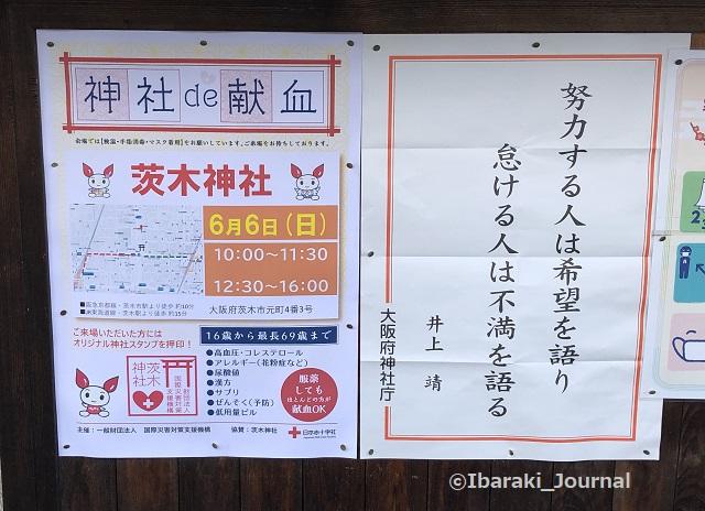 茨木神社で献血お知らせIMG_2108