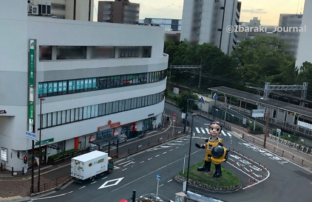 0711南茨木駅上からサンチャイルドIMG_3742