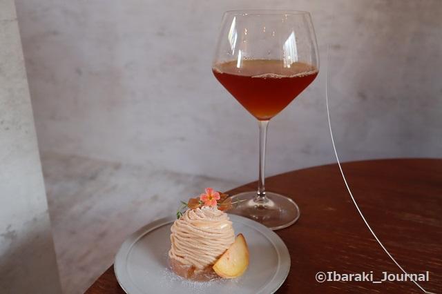 お茶とお花とモンブランのセットIMG_2459